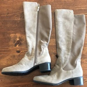 Marc Fisher Wife Calf Riding boots in Taupe